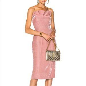 NWT Cinq A Sept Mauve Pink Velvet Marceau Dress 4